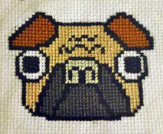 pug cross stitch patterns free - Google Search