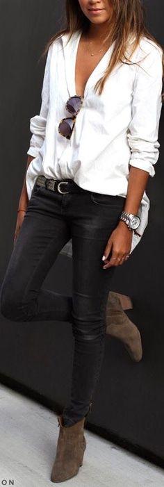 #StreetChic in black denim - pinned by #Luxurydotcom