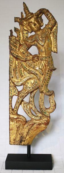 19thC Gilded Buddhist Temple Wood Carving, Burma www.sabaidesignsgallery.com