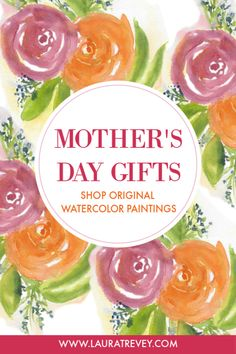 For Mothers Day, give the gift of original art. Shop one of a kind watercolor floral paintings.