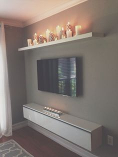 I like the candle shelf.for our bedroom, candle shelf over bed? Decor, Interior Design, House Interior, Bedroom Decor, Apartment Decor, Interior, Apartment Living, Tv Wall Decor, Home Decor