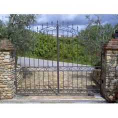 Wrought Iron Driveway Gate. Customize Realisations. 053 Wrought Iron Driveway Gates, Gate Design, Arch, Outdoor Structures, Php, Cottage, Gate, Longbow, Arches