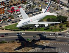 Air France A380 passing the In-N-Out at LAX.