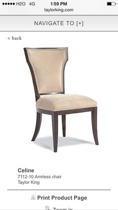 Shop for Chaddock Dawson Chair Z94026 and other Dining Room