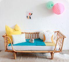 Cunas y camas de mimbre (L'Atelier du Petit Parc)