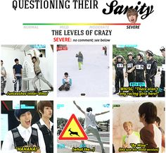 Infinite's level of sanity --> Dongwoo = Severe