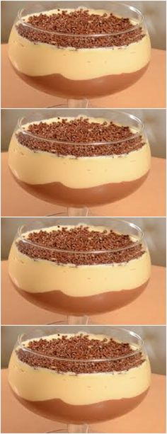 In a bowl place the fresh cream well chilled and beat until the point of whipped cream. Sweet Desserts, Sweet Recipes, Cake Recipes, Dessert Recipes, Mango Mousse, Mousse Dessert, Portuguese Desserts, Chocolate Cheesecake, Nutella