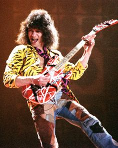 Songwriter/musician/band leader/producer Eddie Van Halen was born 1-26-1955. He was lead guitarist, keyboardist and co-founder of the hard rock band Van Halen.