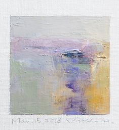 "Mar. 15, 2018 9 cm x 9 cm (app. 4"" x 4"") oil on canvas © 2018 Hiroshi Matsumoto www.hiroshimatsumoto.com"