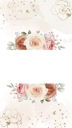 Pretty Backgrounds, Backgrounds Free, Flower Backgrounds, Wallpaper Backgrounds, Paper Background Design, Gold Wallpaper Background, Frame Floral, Flower Frame, Happy Name Day Wishes