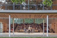 William Rawn designs cedar-clad pavilions for Tanglewood campus Red Oak Tree, Wooden Barn, Shed Roof, Music School, Museum Of Contemporary Art, Brick Building, Concert Hall, Pavilion, Architecture Design