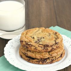 Thousand-Layer Chocolate Chip Cookies by Tracey's Culinary Adventures #Cookies #Chocolate_Chip #traceysculinaryadventures