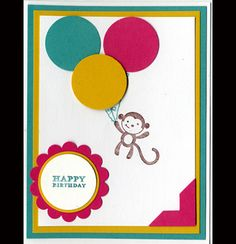Monkey friends by Darline Woloshyn - Cards and Paper Crafts at Splitcoaststampers