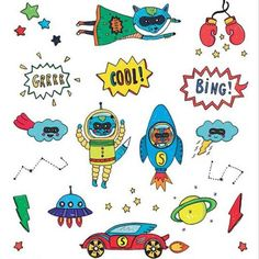 Superheros temporary kids tattoos - Moulin Roty