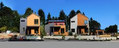 Our three #solar model homes. From left to right: The Everett, Ocean and Aria: