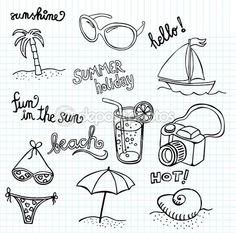 Doodle plaży ostre — Ilustracja stockowa #14872683