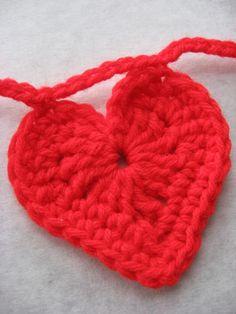 Art crochet heart garland crochet-a-licious
