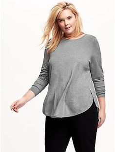 5cd549978b2 Long-Sleeve Plus-Size Tulip Top