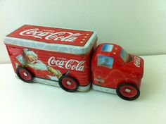 2003 Coke Coca Cola Tin Christmas Santa Claus Semi Truck Toy with Wheels Mint | eBay