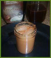 Iced Mexican Mocha made with Crio Bru brewing cocoa! Ole!