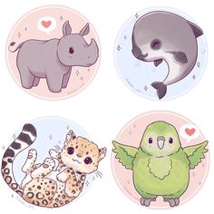 Finished up the first part of my endangered species series! ✨✨ these 8 are now available as stickers on my Etsy I'll be donating the profits to the WWF so make sure to order them before the 18th October! (link in bio) • #endangered #endangeredspecies #conservation #tiger #seaturtle #salamander #elephant #leopard #kakapo #vaquita #dolphin #rhino #cute #kawaii #chibi #animal #instaart #instaartist #instadaily #illustrationoftheday #illustration #digitalpainting #digitalart #doodle #art #...