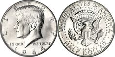 most collectible us  coins | Most Valuable Kennedy Half Dollar 1964-Date Silver Clad Coin Values