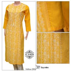 in stock Product code: YELLOW ORG Fabric : LAWN  DETAILS :  CHICKEN KARI EMBROIDERY ON SHIRT FRONT AND EMBROIDERY LACE ON SLEEVS For Order  Inbox Messege https://www.facebook.com/A.YDesiBoutique Call Us: +92 331 2319665 WhatsApp & Viber