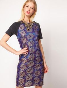 Brocade dress- Lucky Magazine