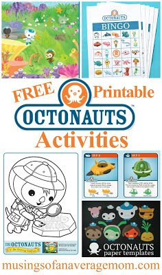 Musings of an Average Mom: Octonauts Activities Birthday Party Goodie Bags, Birthday Party Games, Birthday Crafts, 4th Birthday Parties, 3rd Birthday, Party Bags, Party Favors, Birthday Ideas, Party Activities