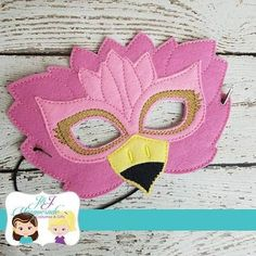 Pink Flamingo Dress Play Mask