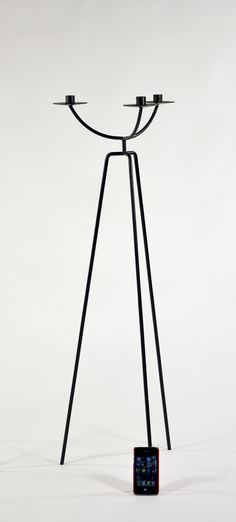 Towering Modernist Candle  Holders After Arthur Umanoff image 5