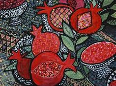 pomegranates in art
