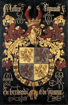 1456 wapenbord Reinoud II Grote kerk Den Haag