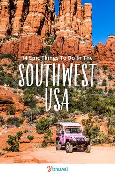 Want to visit the American Southwest region? Here are 14 amazing things to do in the American Southwest USA for your travel bucket list. Don't miss these incredible places and adventure travel activities on your road trip for an unforgettable vacation! From places to visit in Arizona including the Grand Canyon, to best hikes and tours in the Utah National Parks, to adventure in Moab and more!  #Southwest #usatravel #travel #adventuretravel #vacation #familytravel #bucketlist #roadtrip #roadtrips