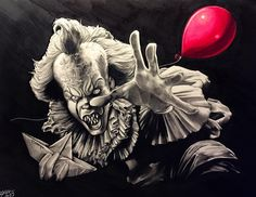 Pennywise drawing by Tony Sklepic
