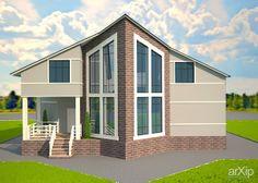 коттэдж: архитектура, строительство, 2 эт | 6м, жилье, 300 - 500 м2, фасад - кирпич, коттедж, особняк, конструктивизм, проектирование, реконструкция #architecture #construction #2fl_6m #housing #300_500m2 #facade_brick #cottage #mansion #constructivism