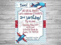 Avión partido invitación invitación de cumpleaños por SimplyPRINTly