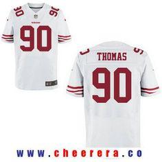 24eeea83c Men s 2017 NFL Draft San Francisco 49ers  90 Solomon Thomas White Road Stitched  NFL Nike