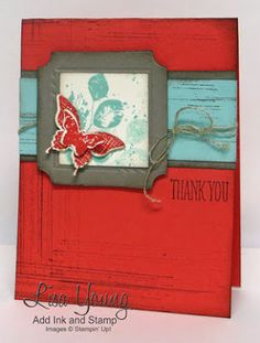 Stampin' Up! Kinda Eclectic Stamp set and Gorgeous Grunge stamp set. Handmade shabby chic card by Lisa Young, Add Ink and Stamp