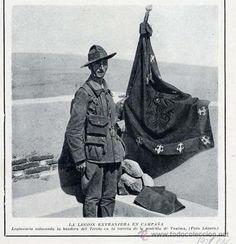 MARRUECOS 1921 LEGIONARIO BANDERA DEL TERCIO EN TUIMA HOJA REVISTA