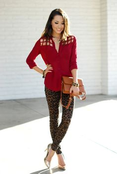I'd love to be able to pull off the leopard printed jeans!