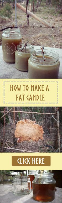 Got access to waste animal fat and empty jars? Why not make your own fat candles? It's a fun and easy way of making candles at home.