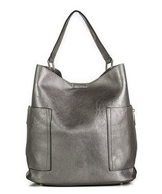 This Pewter Pocket Hobo is perfect! #zulilyfinds