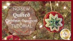"""No-Sew """"Quilted"""" Christmas Ornament   with Jennifer Bosworth of Shabby F..."""