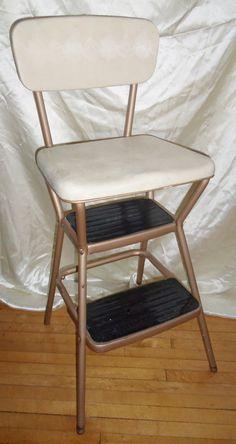 Retro Vintage Cosco Utility Step Ladder Vinyl padded by BooksShop, $75.00