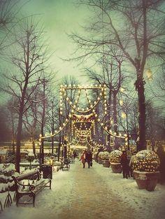 Winter Wonderland at the Tivoli Gardens in Copenhagen Denmark!