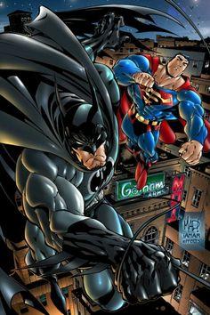 Batman and Superman by ~iANAR on deviantART