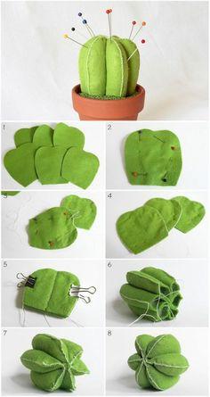 Sew a cactus pin cushion  | Шьем игольницу в виде кактуса