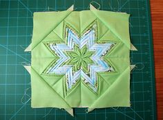 Fancy Folded Star « 'Moda Bake Shop.' Really cool idea of using up scraps and making a nice block!