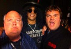 Tenacious D and Slash backstage at a gig Kyle Gass, Tenacious D, Alternative Music, Jack Black, Rock Bands, Backstage, Awesome, Musica